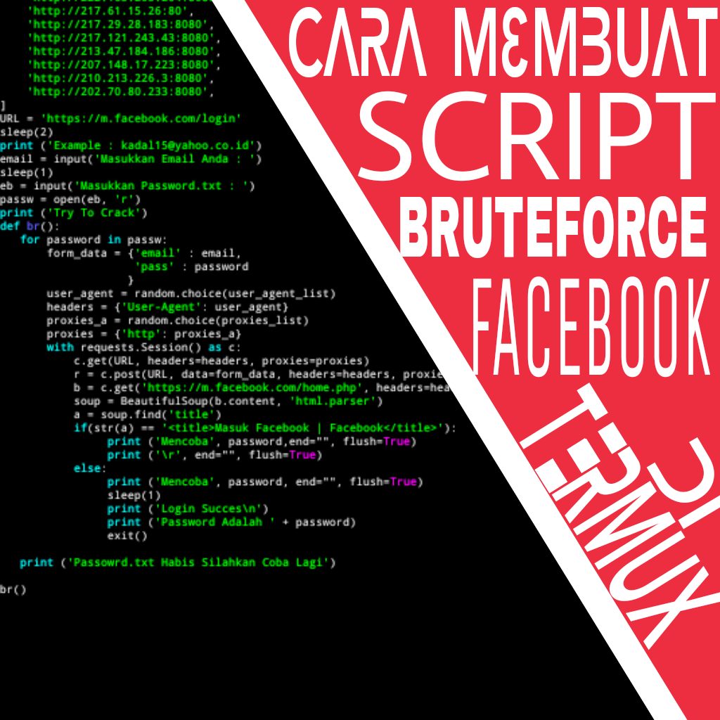 Cara membuat Script Bruteforce FB - Jejaka Tutorial