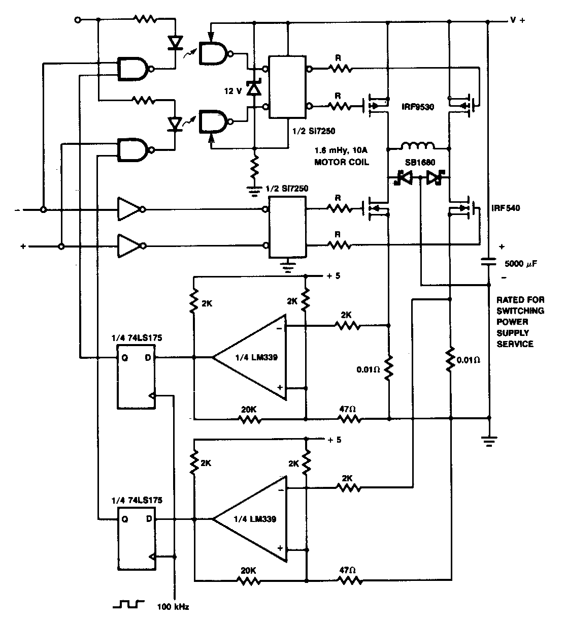 current limiting coil driver circuit diagram electronic circuit
