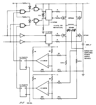 Current Limiting Coil Driver circuit Diagram