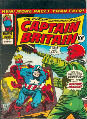 Captain Britain #25, Captain America and the Red Skull