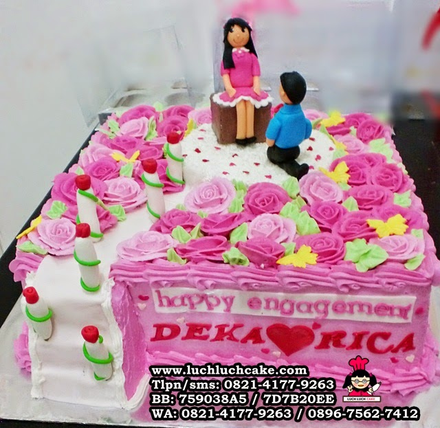 Luch Luch Cake Kue Tart Untuk Lamaran Romantis Warna Pink