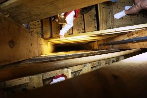 schody w wieliczce - 135 metrów pod ziemią