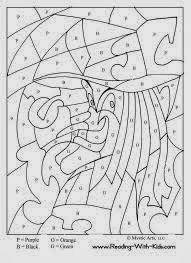 Halloween Coloring Pages By Number 1