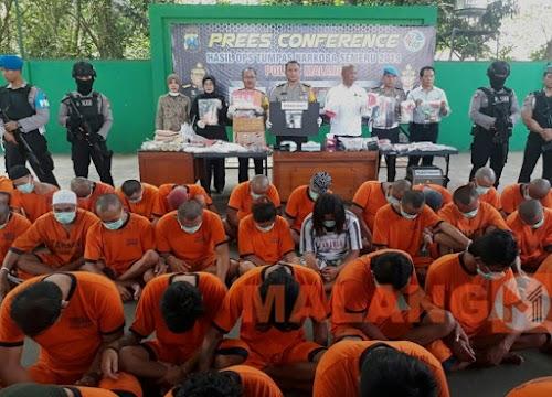 12 Hari Polisi Ciduk 90 Pelaku Narkotika