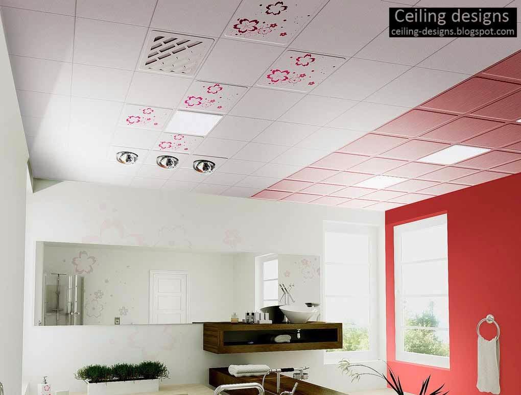 bathroom ceiling ideas, designs, classifications