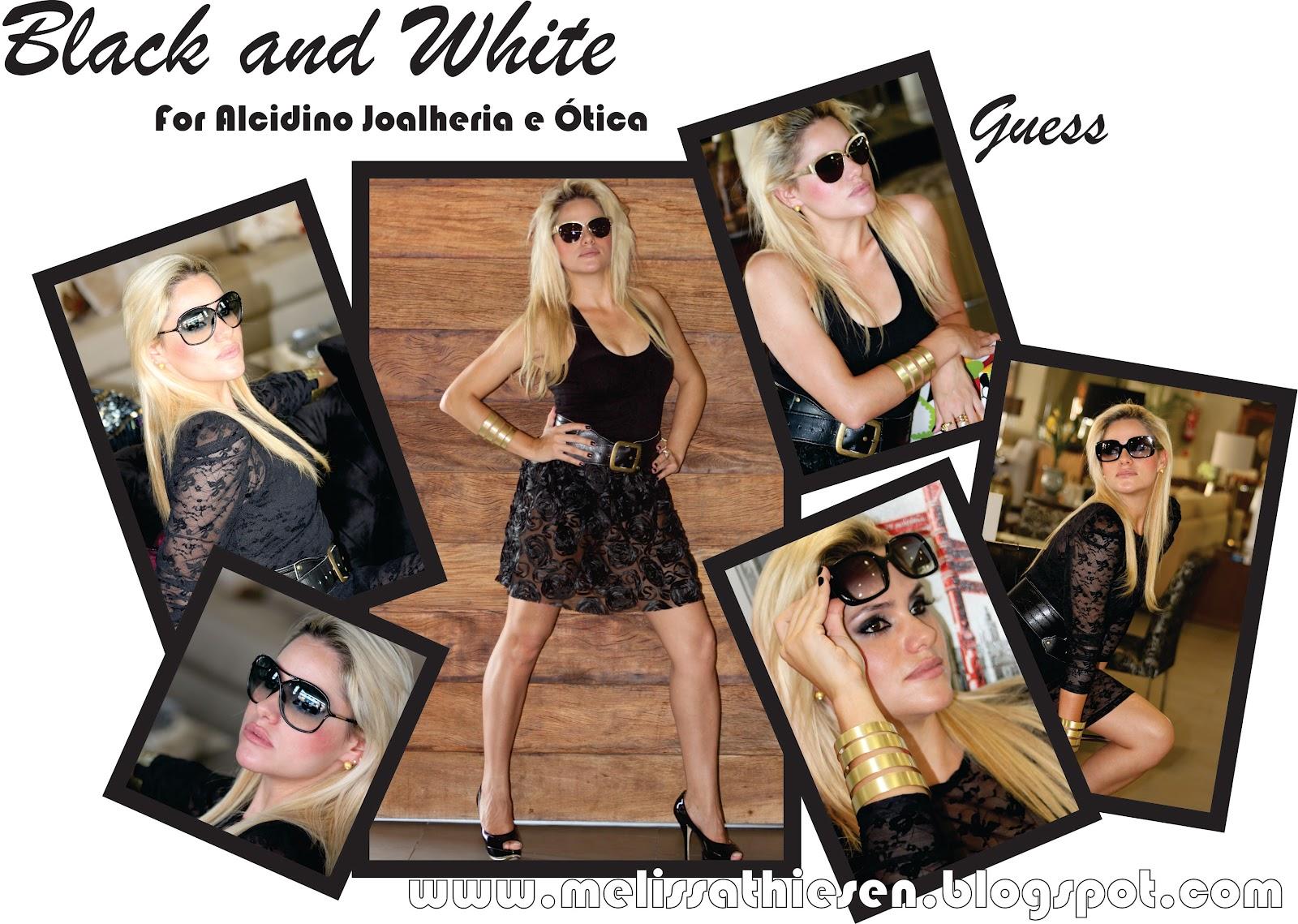 60ab1ed7ed3 Melissa Thiesen  BLACK AND WHITE!!! For Alcidino Joalheria e Ótica.