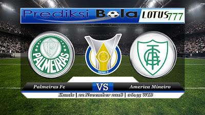 Prediksi pertandingan Palmeiras vs America Mineiro 22 November 2018