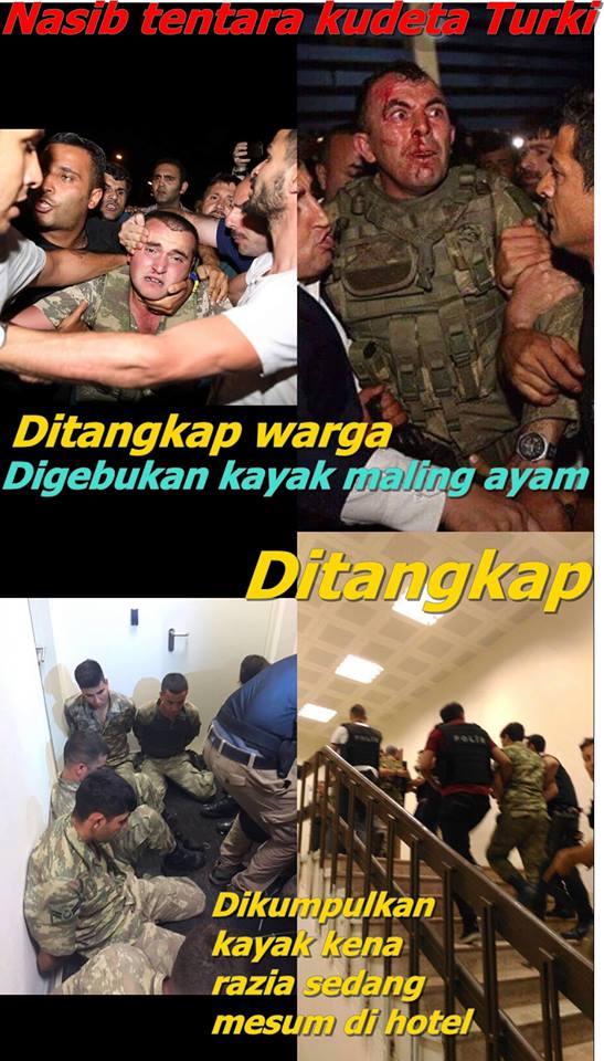 Foto Foto, Militer Turki Yang melakukan Kudeta Babak Belur dihajar Rakyat Sipil dan Militer Pro Pemerintah - Commando