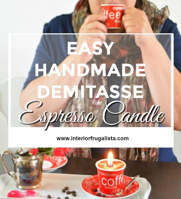 Easy Handmade Demitasse Espresso Candle