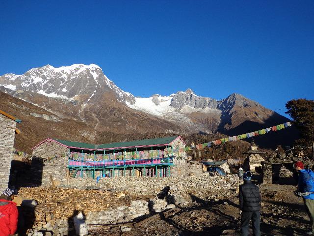 Tea house picture in the Manaslu trekking Nepal