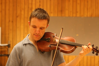 Adrian Sutton, recording the music for War Horse in 2007