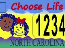 NC anti-choice license plate