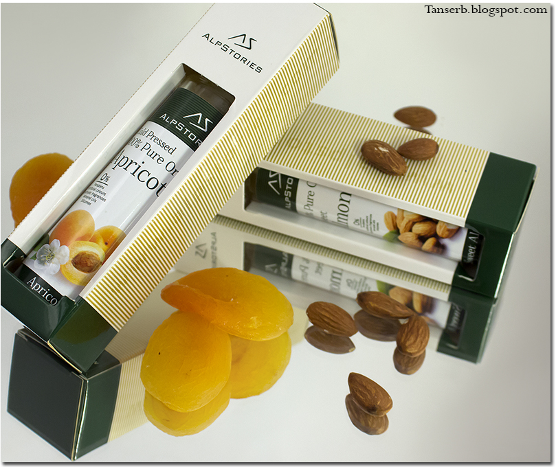 Alpstories 100% Pure Organic Sweet Almond Oil & Alpstories 100% Pure Organic Apricot Oil