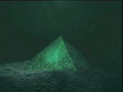 Pyramids are been found out at sea under the water.
