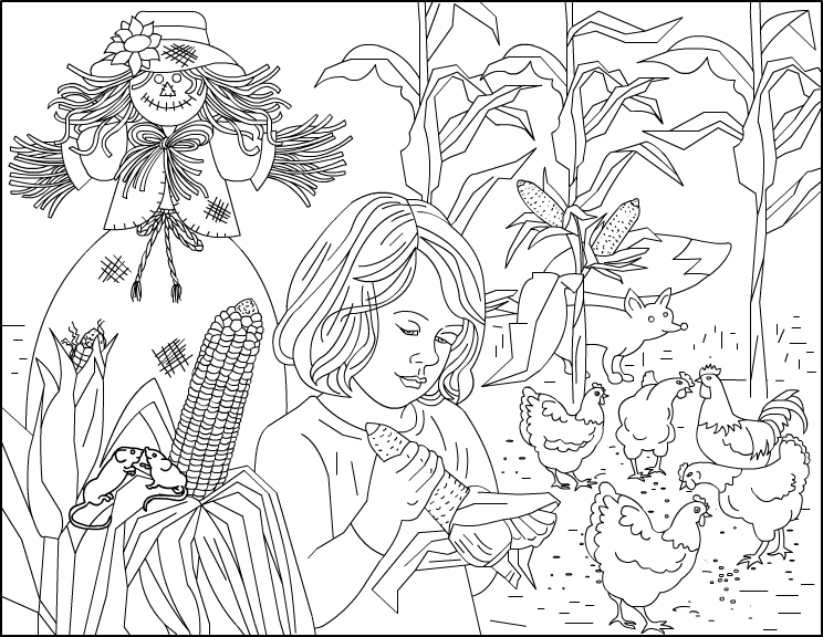 autumn coloring book pages | Nicole's Free Coloring Pages: Autumn coloring page ...