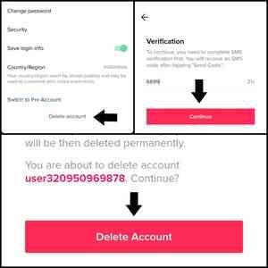 Delet tiktok account permanently