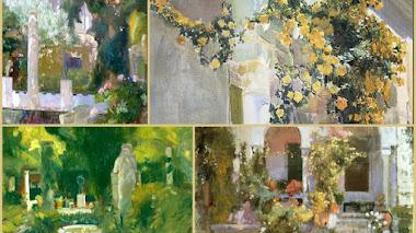 'Jardín de la Casa Sorolla' y el crecimiento del rosal amarillo