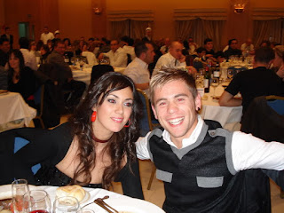 Alvario And Noelia At Dinner