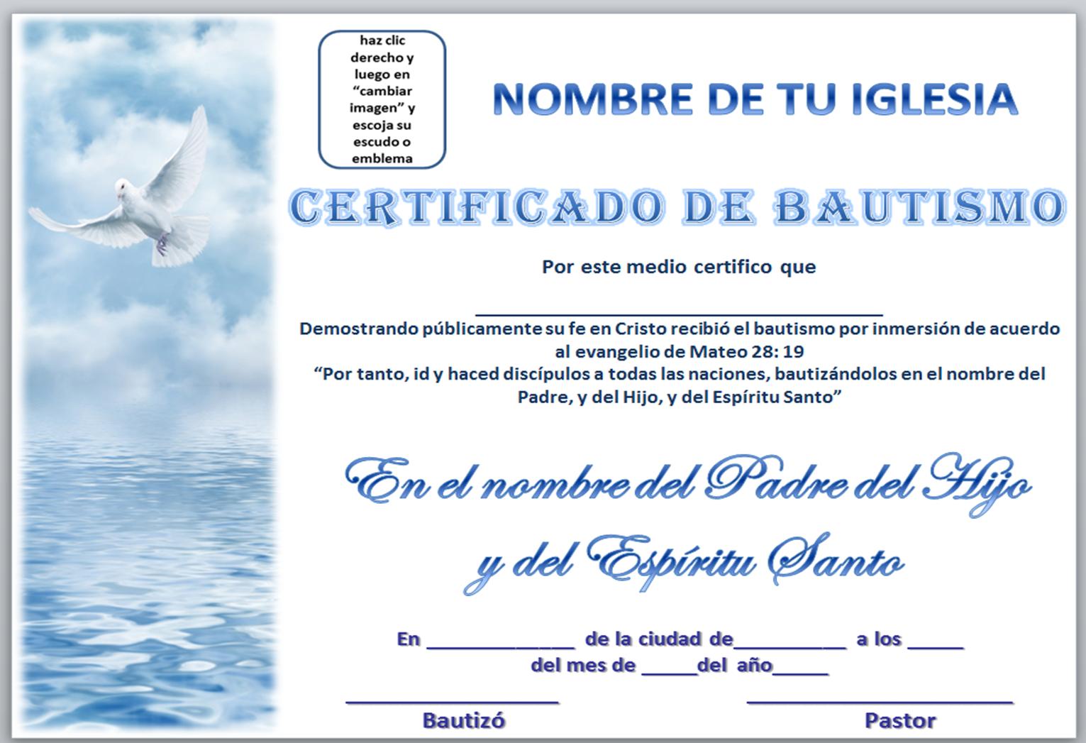 Acta De Matrimonio Catolico : Iglesia mar abierto certificados de bautismo para descargar