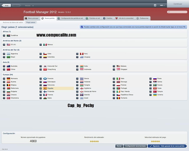Capturas Propias Football Manager 2012 PC Full Español