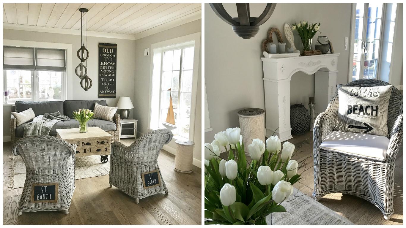 sitzecke im hamptons style beachhouse living. Black Bedroom Furniture Sets. Home Design Ideas