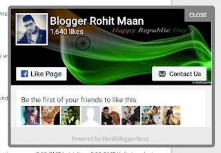 Popup facebook like box widget for blogger