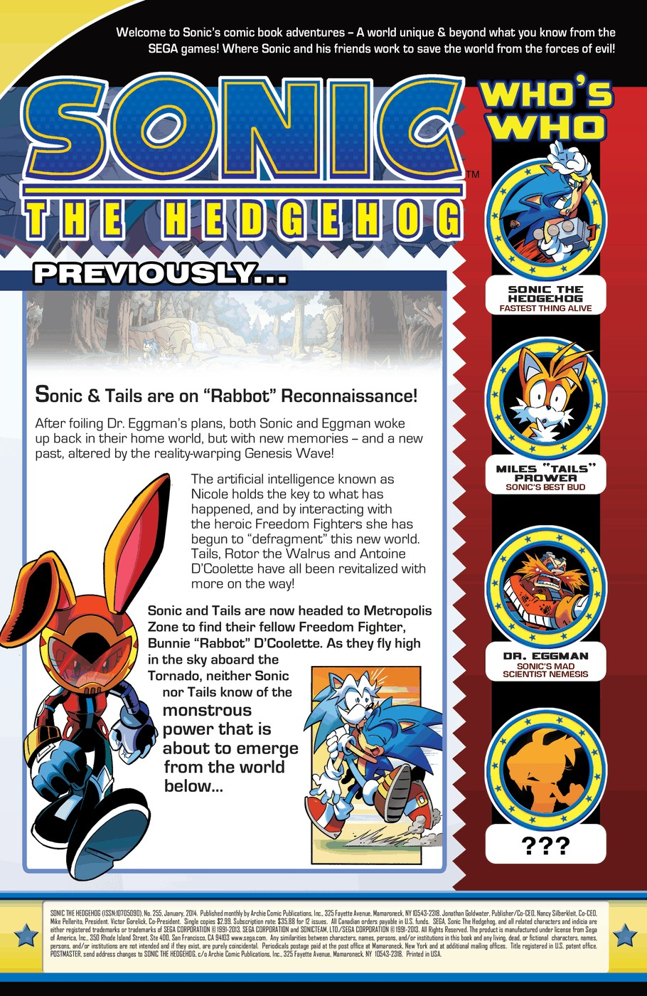 Read online Sonic The Hedgehog comic -  Issue #255 - 3