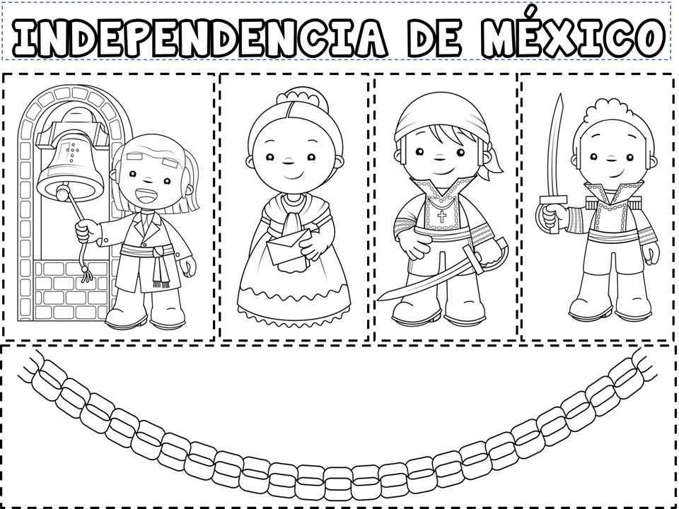 Colorear Día Independencia México - Blog de imágenes