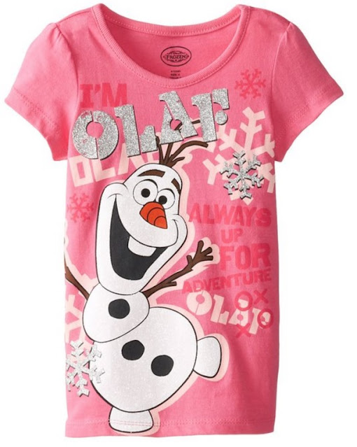 Such a pretty Olaf-themed Disney Frozen t-shirt for your daughter.