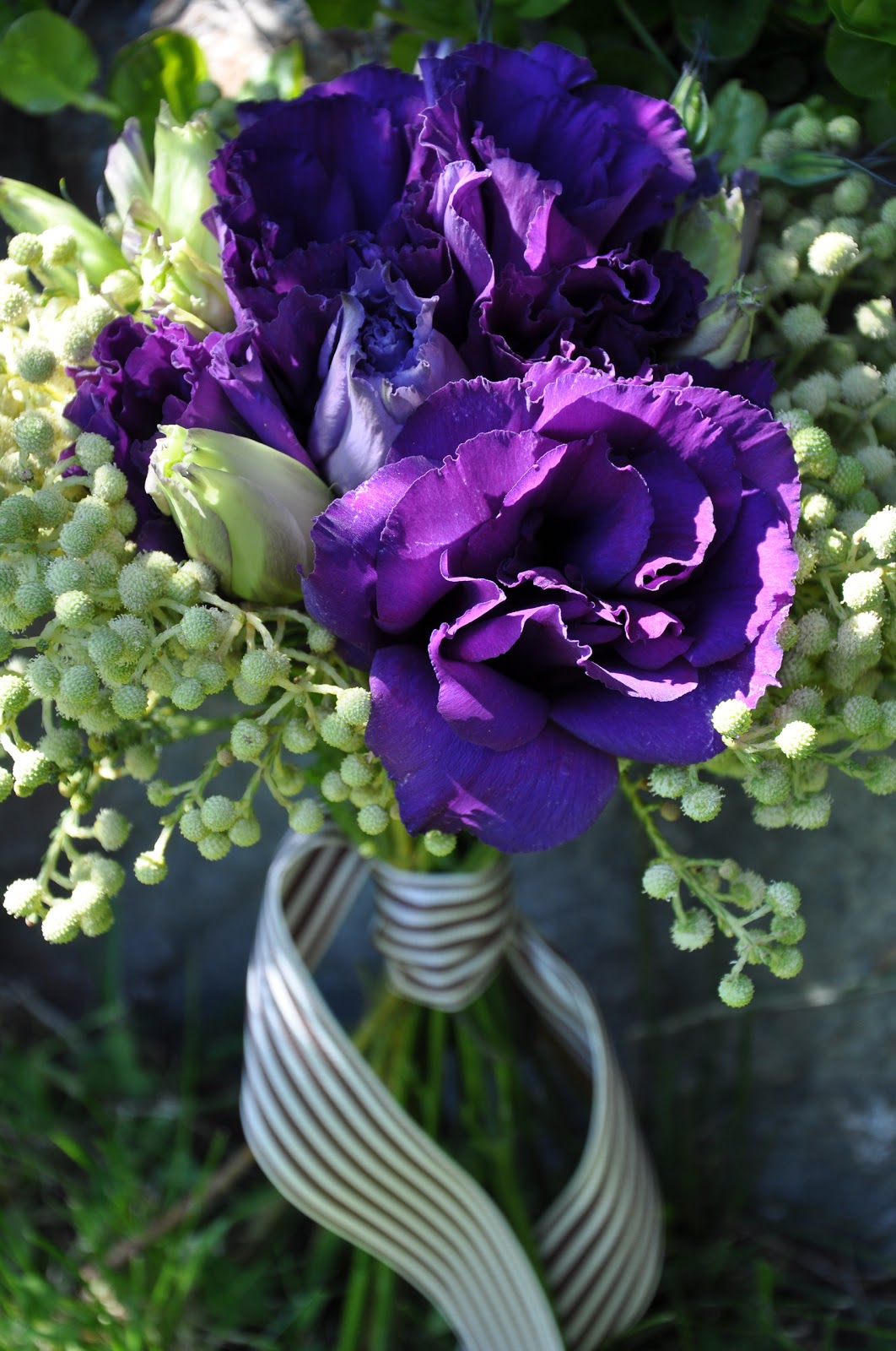 Tara Mchugh Flora Spring Bouquet Deep Purple Lisianthus