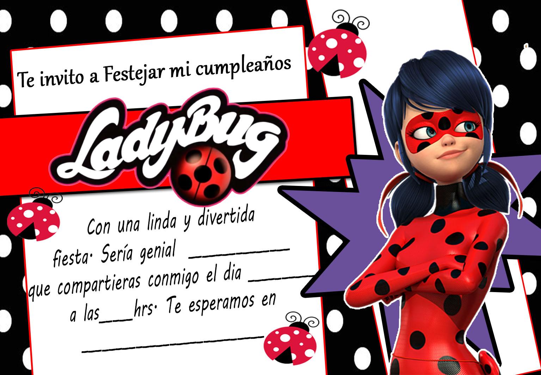 Tarjetas De Cumpleaños Para Imprimir Invitación De Ladybug