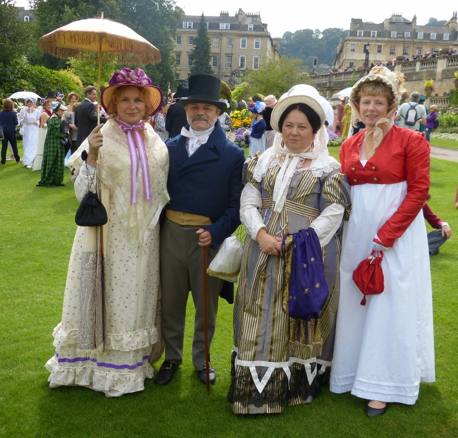 The Jane Austen Festival Promenade - in Parade Gardens