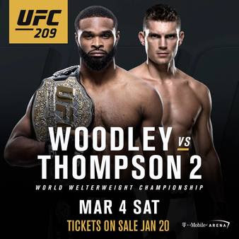 Wonderboy Favored Over Woodley at UFC 209