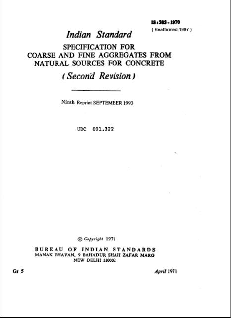 Indian Standard Code Book