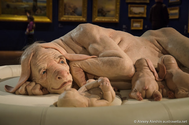 Young family by Patricia Piccinini