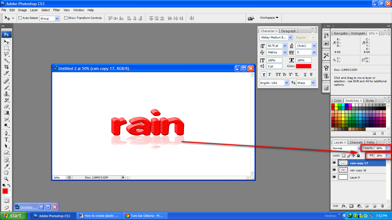 How To Overlay Transparent Text Over Any Image Background in Photoshop