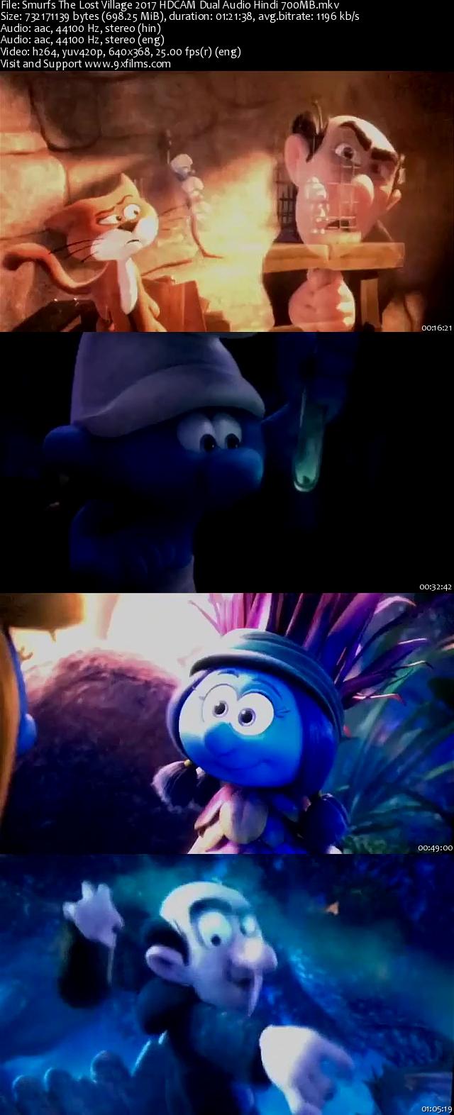 Smurfs The Lost Village 2017 HDCAM Dual Audio Hindi 700MB