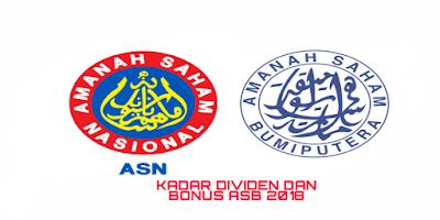 Kadar Bayaran Dividen dan Bonus ASB 2018