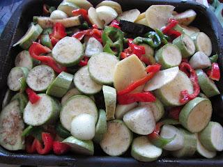mix warzyw przed pieczeniem