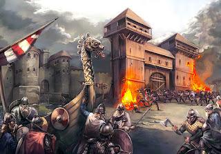 Asedio vikingo a una ciudad