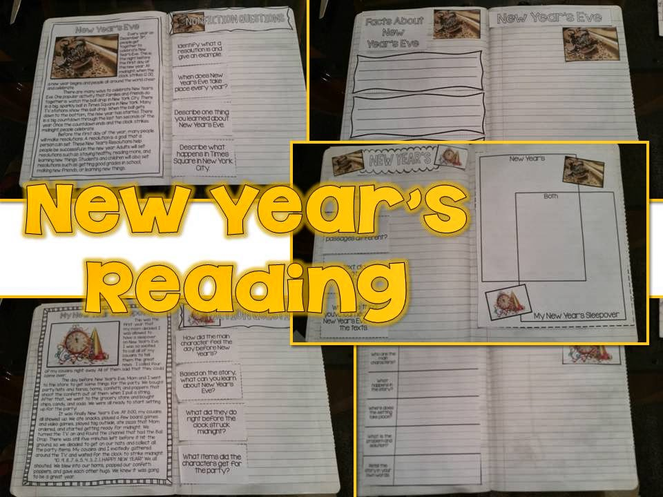 New Years Ideas in the classroom- paired passages fiction and nonfiction reading
