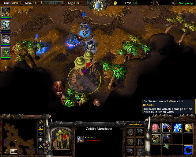 Claws of Attack +15 Screenshot    The Founding of Durotar   Warcraft 3: The Frozen Throne