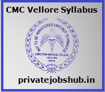 CMC Vellore Syllabus
