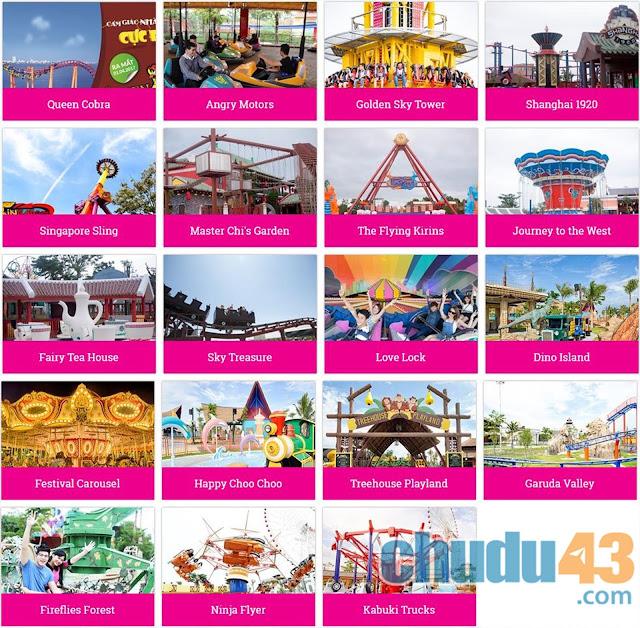 Khu vui chơi giải trí - Công viên Châu Á (Chudu43.com)