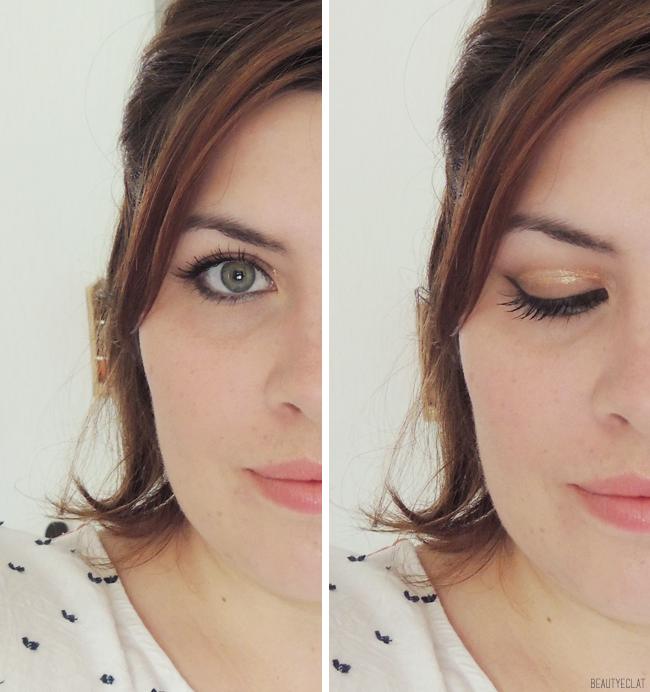 Tutoriel maquillage Cut Crease Doré