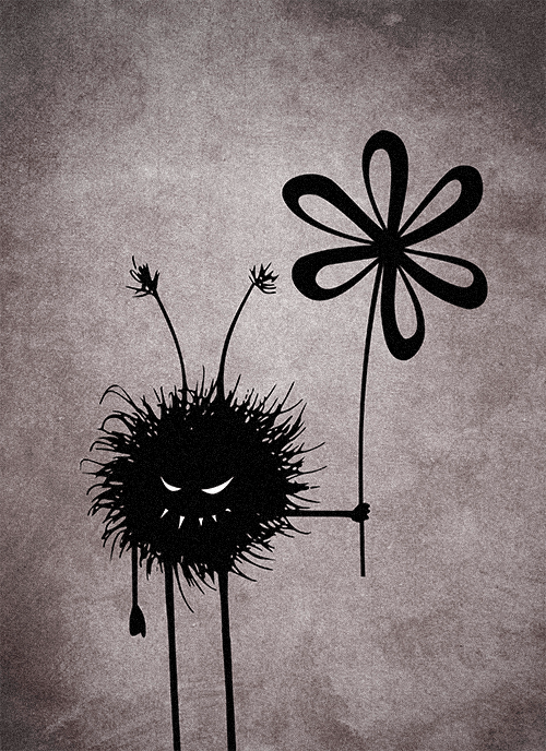 The evil flower bug creature in a vintage reincarnation