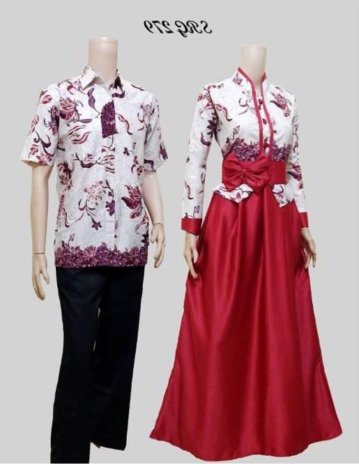10 Model Baju Batik Muslim Couple Elegan Terbaru 2017