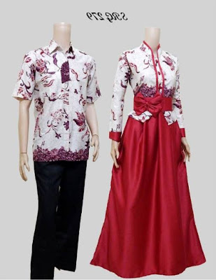 Model baju batik muslim couple remaja