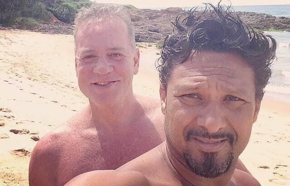 Luiz Fernando Guimarães posta foto com o marido: 'Moreno do meu coração'