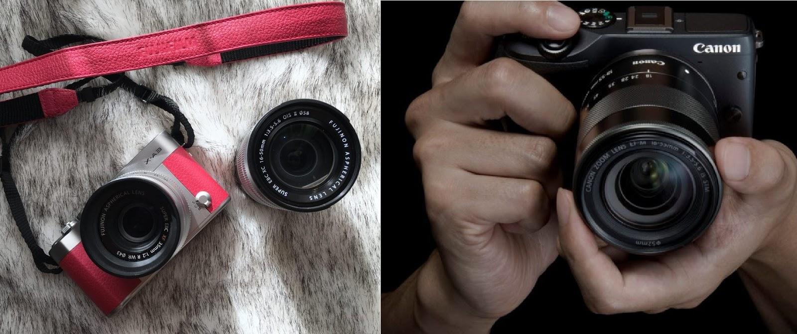 Perbandingan Kamera Fujifilm X-A3 dengan Canon M3